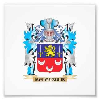Mcloughlin Coat of Arms - Family Crest Photograph