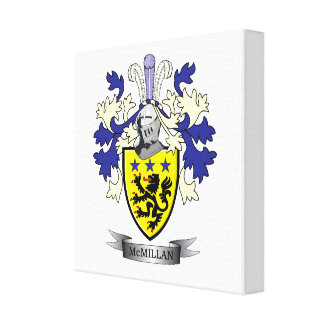 McMillan Family Crest Coat of Arms Canvas Print