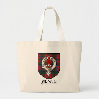 McNair Clan Crest Badge Tartan Jumbo Tote Bag
