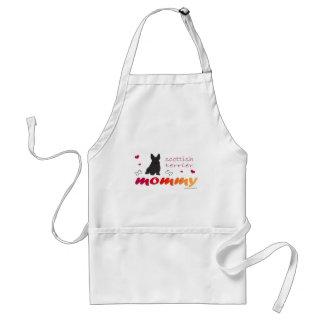 mcoct21 scottish terrier Mommy Standard Apron
