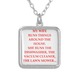 mcp silver plated necklace