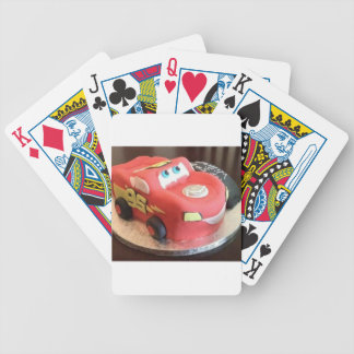 McQueen car cake Bicycle Playing Cards