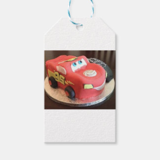McQueen car cake Gift Tags