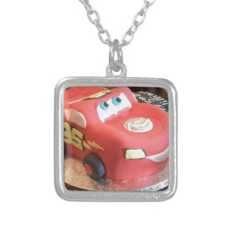 McQueen car cake Silver Plated Necklace
