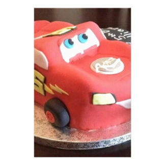 McQueen car cake Stationery
