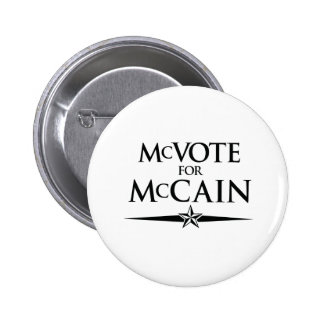 MCVOTE FOR MCCAIN 6 CM ROUND BADGE