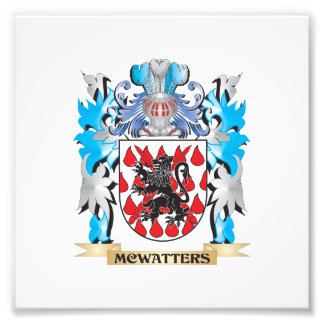 Mcwatters Coat of Arms - Family Crest Art Photo