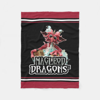 MD Baby Blocks Dragon Fleece Blanket