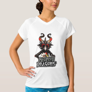 MD Black Dragon Champion D-Dry V-Neck, White T-Shirt