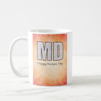 MD Happy Doctors' Day with Red and Yellow Coffee Mug
