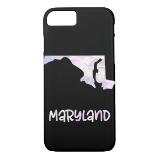 MD Maryland State Iridescent Opalescent Pearl iPhone 8/7 Case