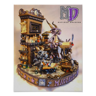 """MD Merlin Dragons 11""""x14"""" Mini Poster"""