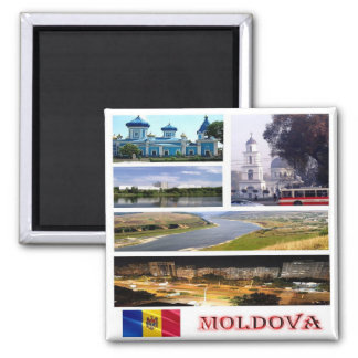 MD - Moldova - Collage Mosaic Magnet