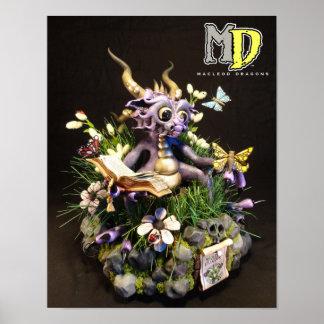 "MD Purple Butterfly Dragon 11""x14"" Mini Poster"