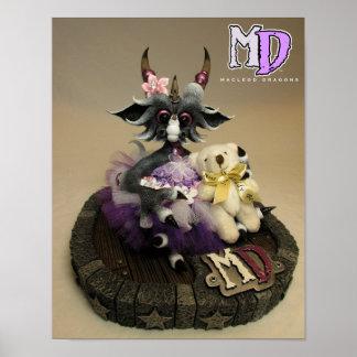 "MD Teddy Bear Dragon 11""x14"" Mini Poster"