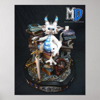 "MD White Dragon 11""x14"" Mini Poster"