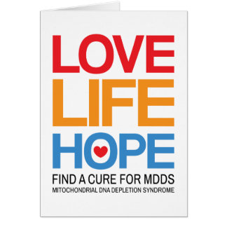 MDDS awareness folded card - find a cure