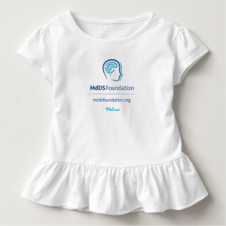 MdDS Awareness Toddler Ruffle Tee Shirt
