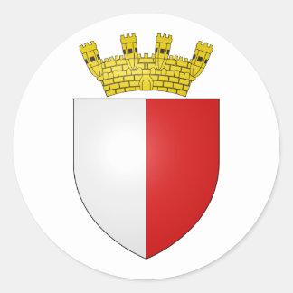 Mdina, Malta Classic Round Sticker