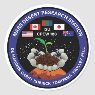 MDRS Crew 188 Patch Stickers (set of 6)