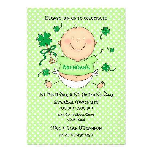 Me 1st St. Paddy's Day Birthday Party Invitation