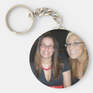 me and amberidk or me and lauren basic round button key ring