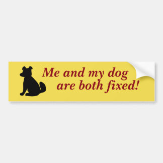 Me And My Dog Bumper Sticker