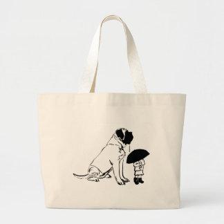 Me and My Mastiff Large Tote Bag
