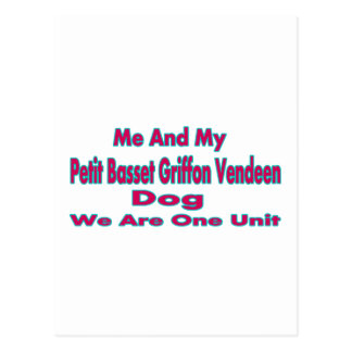 Me And My petit basset griffon vendeen Dog Postcard