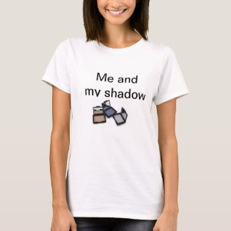 """""""Me and my shadow"""" round neck white ladies t-shirt"""
