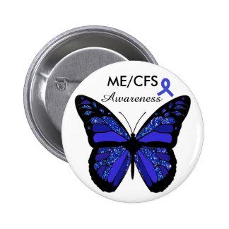 ME/CFS Awareness Butterfly Button