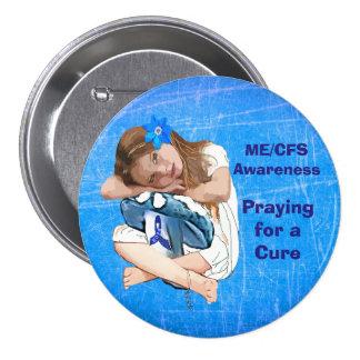 """ME/CFS Awareness """"Girl of Hope"""" 7.5 Cm Round Badge"""