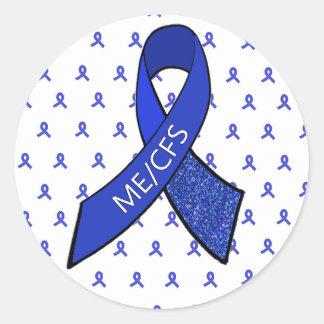 ME/CFS Blue Ribbon Awareness Stickers