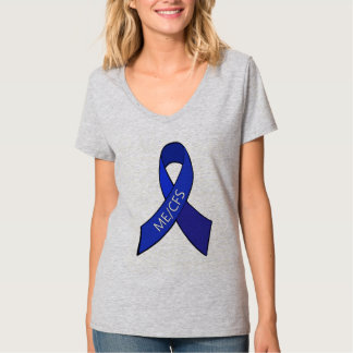 ME/CFS Chronic Fatigue Syndrome Awareness Ribbon T Shirts