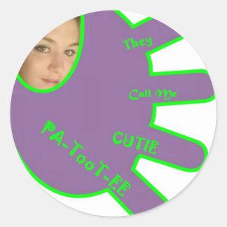 Me Cutie Round Sticker
