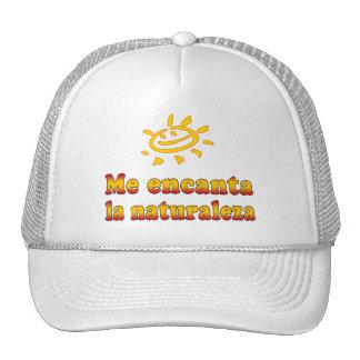 Me encanta la naturaleza I Love Nature in Spanish Trucker Hat