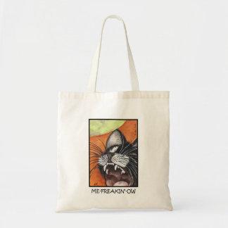 Me-Freakin'-Ow Black Cat Tote Bag