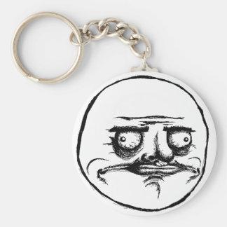 Me Gusta Basic Round Button Key Ring