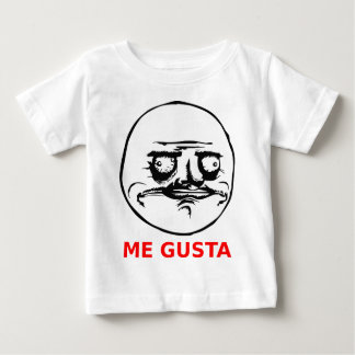 Me Gusta Face with Text Baby T-Shirt