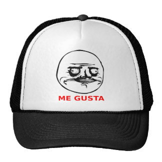 Me Gusta Face with Text Trucker Hat