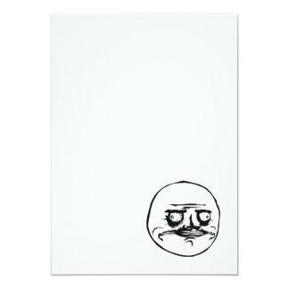 Me Gusta Meme 13 Cm X 18 Cm Invitation Card