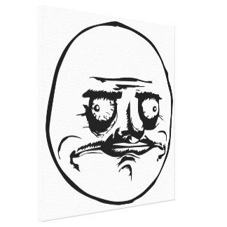 Me Gusta Meme Gallery Wrapped Canvas