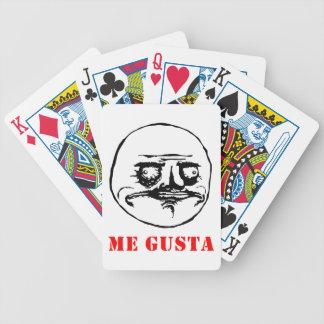 Me Gusta - meme Bicycle Poker Cards