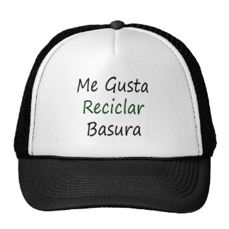 Me Gusta Reciclar Basura Mesh Hat