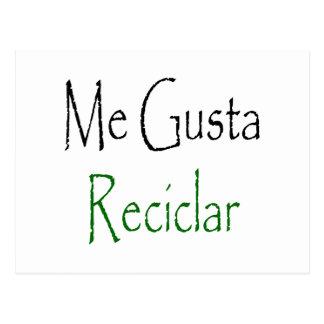 Me Gusta Reciclar Postcard