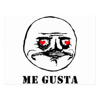 Me Gusta Valentine in Love - meme Postcards