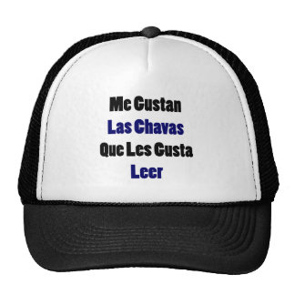 Me Gustan Las Chavas Que Les Gusta Leer Mesh Hats