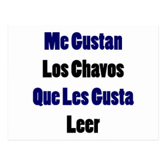 Me Gustan Los Chavos Que Les Gusta Leer Postcard