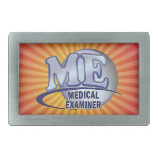 ME MEDICAL EXAMINER FUN BLUE LOGO BELT BUCKLES