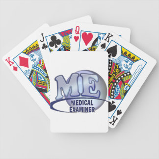 ME MEDICAL EXAMINER FUN BLUE LOGO BICYCLE PLAYING CARDS